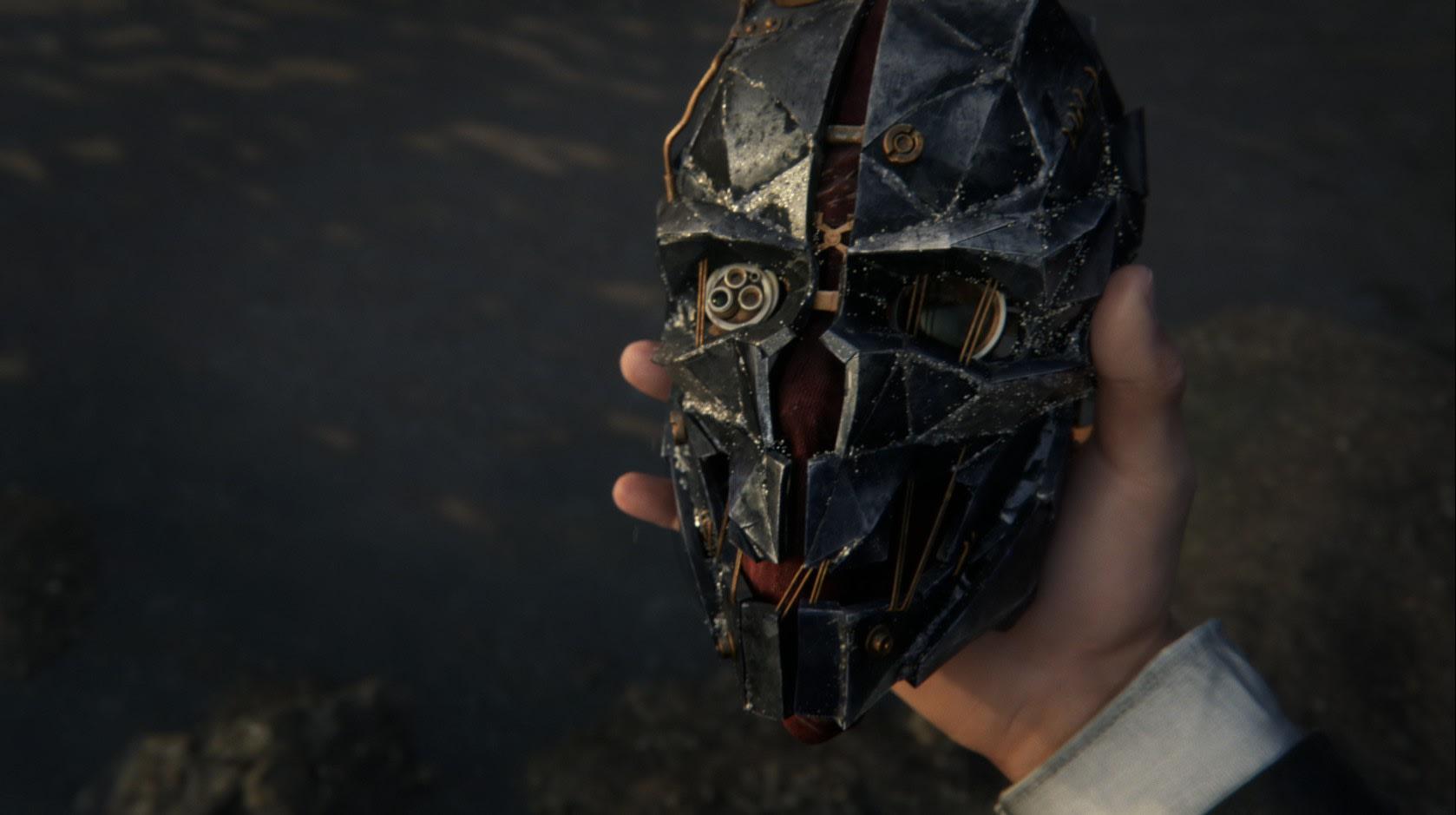 Die Masken aus dem Plastilin auf die ganze Person