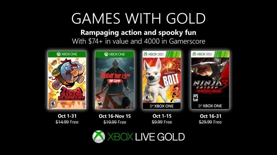 """Xbox Live - """"Games with Gold"""" Spiele für den Oktober 2019"""