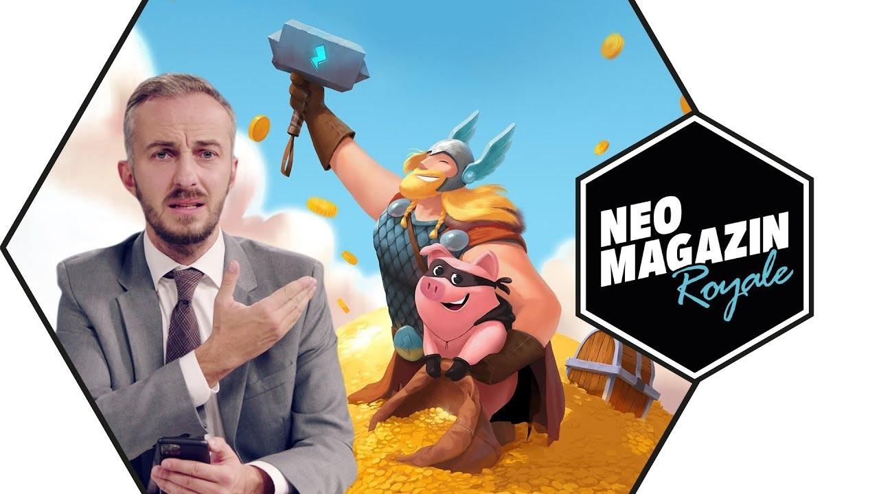 """Neo Magazin Royale - Aufklärungsvideo zu """"Coin Master"""" zeigt Wirkung"""